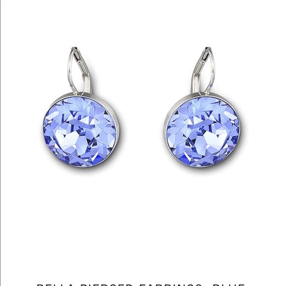 b1785e18f1d268 SWAROVSKI Bella earrings (Blue). M 5b19d5fa819e90f124e914e1